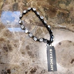 Silver Givenchy bracelet with stones